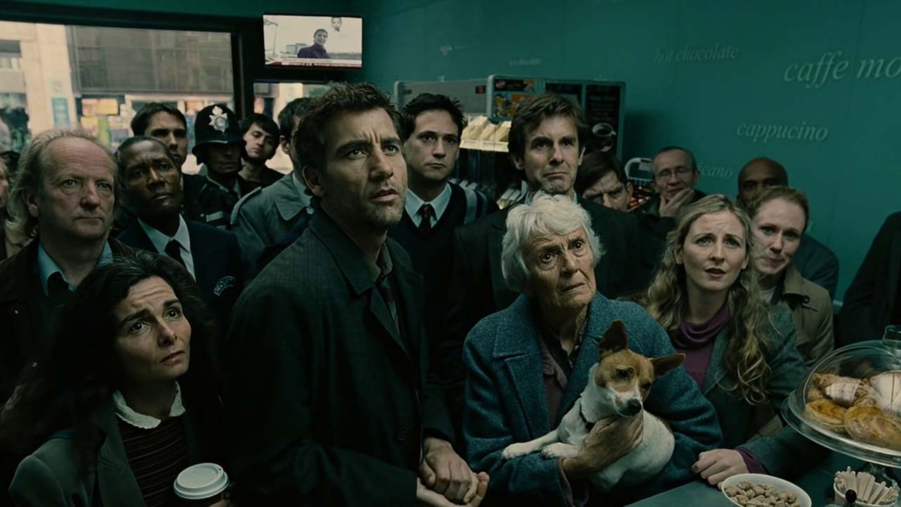 Clive Owens and P.D. James in Children of Men