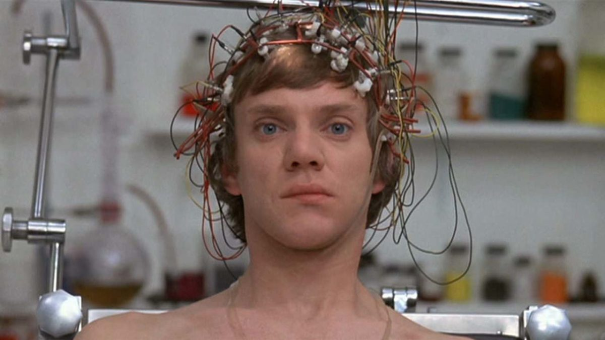 Malcolm McDowell tries not to die like a dog in Lindsay Anderson's O Lucky Man!
