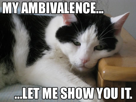 My ambivalence... let me show you it.