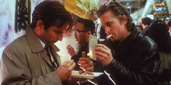 Andy Garcia and Michael Douglas in Black Rain