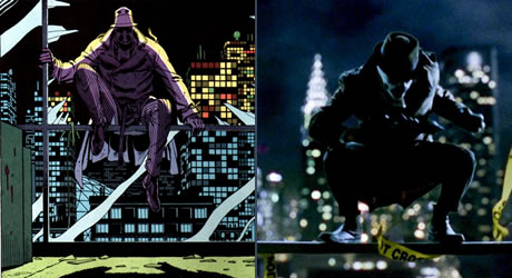Jackie Earle Haley as Rorschach in the movie Watchmen