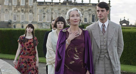 Julia Flyte, Emma Thompson, and Matthew Goode in Brideshead Revisited