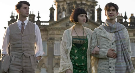 Julia Flyte, Ben Whishaw, and Matthew Goode in Brideshead Revisited