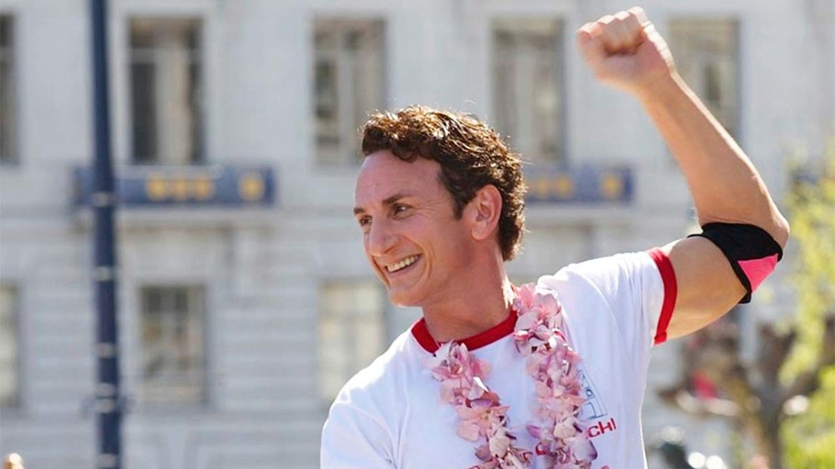 Sean Penn as Harvey Milk in Gus Van Sant's Milk