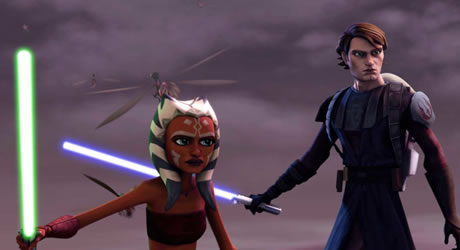 Ashley Eckstein and Matt Lanter in Star Wars: The Clone Wars