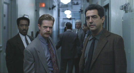 William H. Macy and Joe Mantegna in Homicide