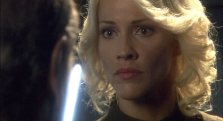 Tricia Helfer in Battlestar Galactica: The Plan