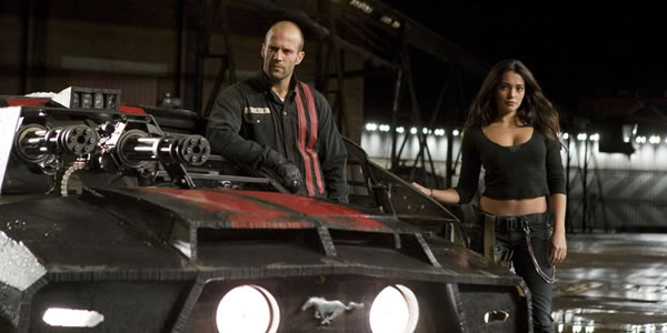 Jason Statham and Natalie Martinez in Death Race