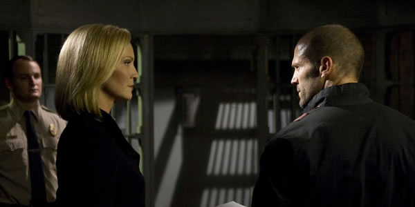 Jason Statham and Joan Allen in Death Race