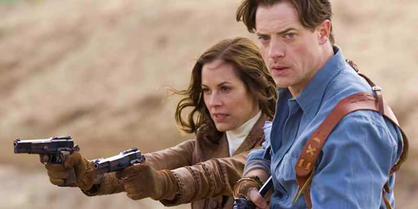 Maria Bello and Brendan Fraser in The Mummy 3: Tomb of the Dragon Emperor