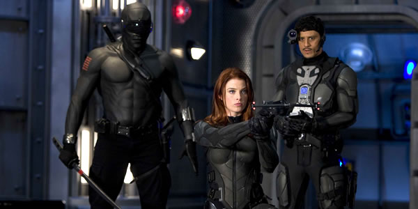 Saïd Taghmaoui and Rachel Nichols and Ray Park in G.I. Joe: The Rise of Cobra