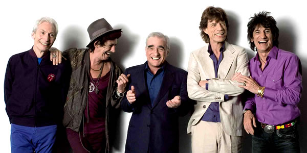 Martin Scorsese and The Rolling Stones in Shine a Light