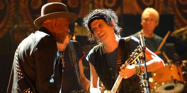 Keith Richards and Buddy Guy in The Rolling Stones Shine a Light