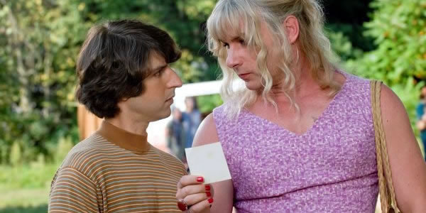 Demetri Martin and Liev Schreiber in Taking Woodstock