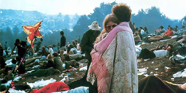 A scene from Woodstock