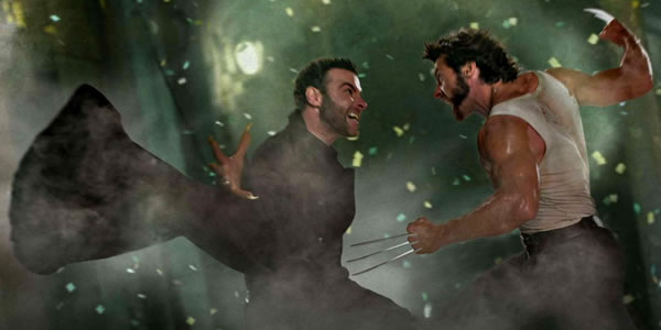 Liev Schreiber and Hugh Jackman in X-Men Origins: Wolverine