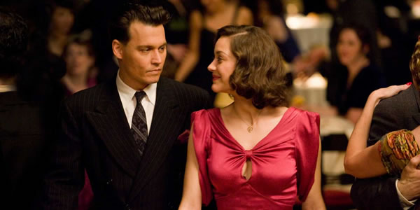 Johnny Depp and Marion Cotillard in Public Enemies