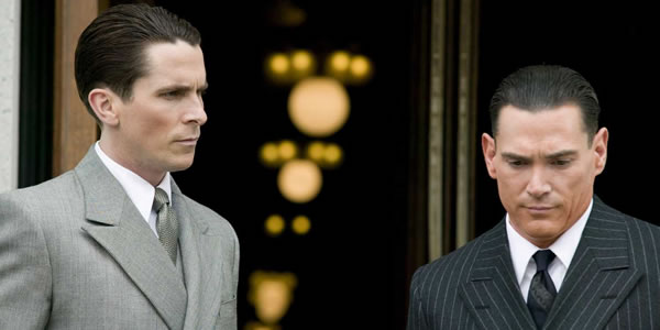 Christian Bale and Billy Crudup in Michael Mann's Public Enemies