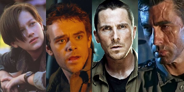Edward Furlong, Christian Bale, Nick Stahl, and Michael Edwards as John Connor in The Terminator movies