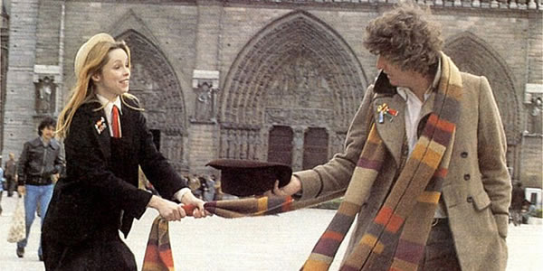 Lalla Ward and Tom Baker in Doctor Who