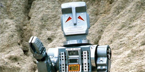 Marvin the Paranoid Android from the BBC series The Hitchhiker's Guide to the Galaxy