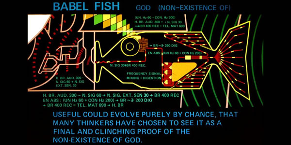The Babel Fish from the BBC Series The Hitchhiker's Guide to the Galaxy