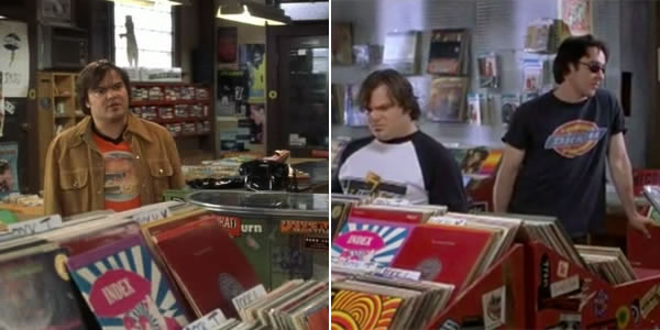Jack Black and John Cusack in High Fidelity