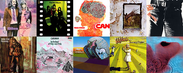 Prog rock album covers from 1971