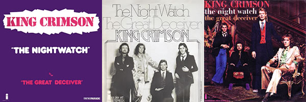 King Crimson The Night Watch single