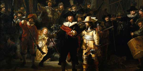 Rembrandt The Night Watch (detail)