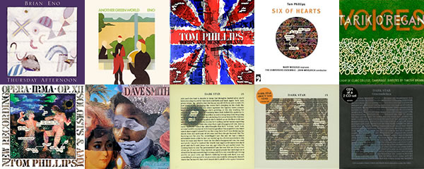 Tom Phillips album covers