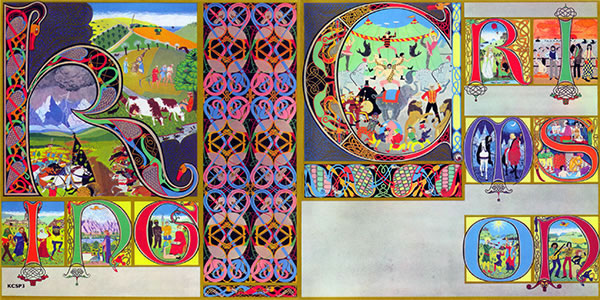 King Crimson Lizard - front and back cover painting by Gini Barris