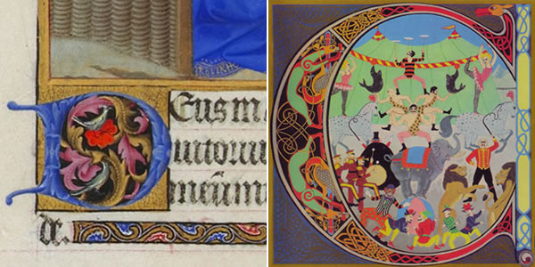 Details from Tres Riches Heures du Duc de Berry and King Crimson's Lizard