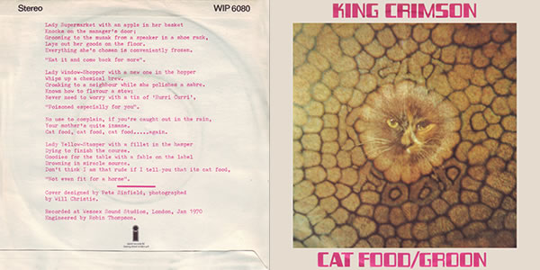 King Crimson Cat Food single