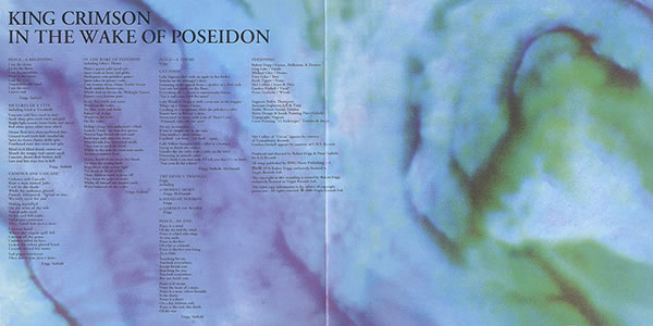 King Crimson In the Wake of Poseidon inner gatefold painting by Peter Sinfield