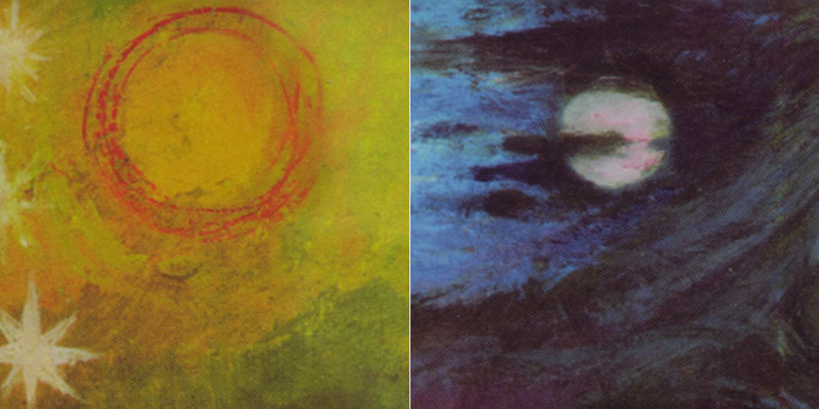 The sun and moon in Tammo de Jongh's painting The 12 Archetypes