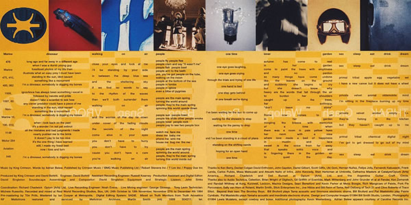 King Crimson THRAK gatefold