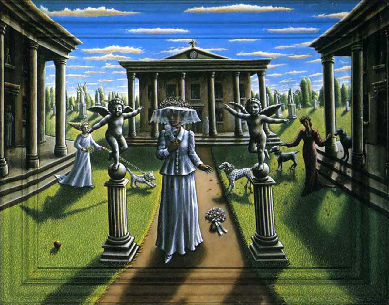 King Crimson Epitaph The Four Seasons painting by P.J. Crook