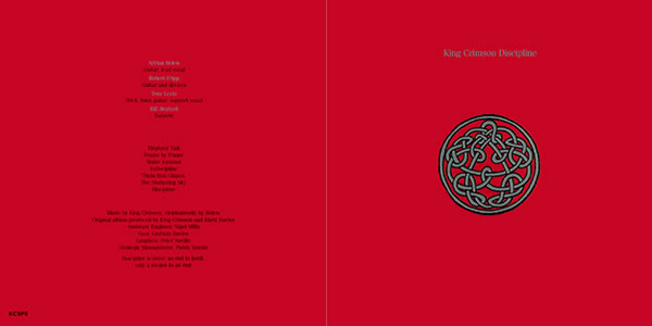 King Crimson Discipline front and back cover