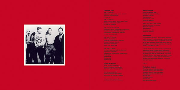King Crimson Discipline inner gatefold from 30th Anniversary Edition