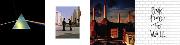 Pink Floyd: The Dark Side of the Moon, Wish You Were Here, Animals, The Wall