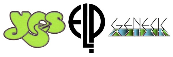 Yes Genesis ELP band logos